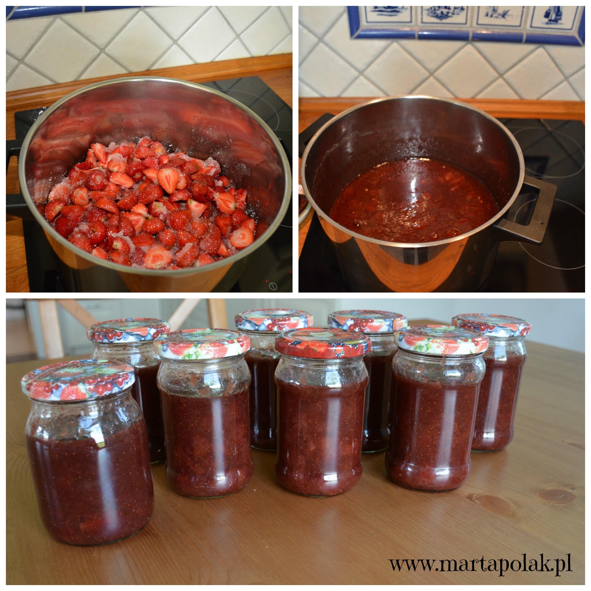 przygotowanie dżemu truskawkowego